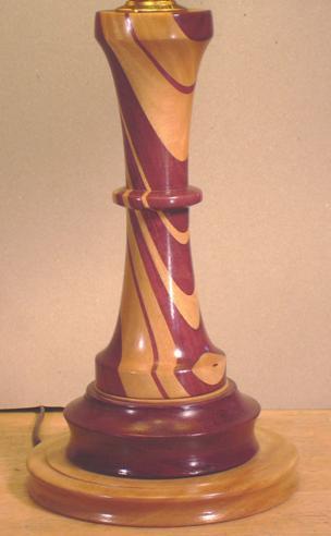 turned wood lamp photo - 1