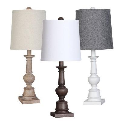 turned wood lamp photo - 10