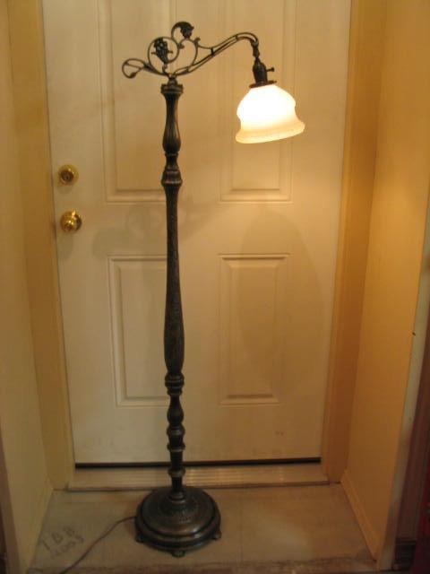 turned wood lamp photo - 3
