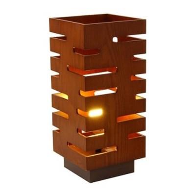 turned wood lamp photo - 5