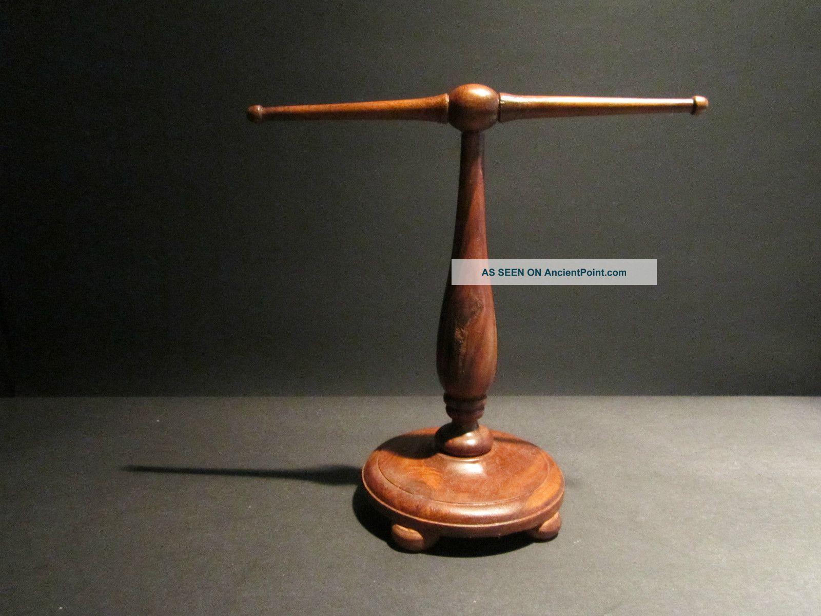 turned wood lamp photo - 6