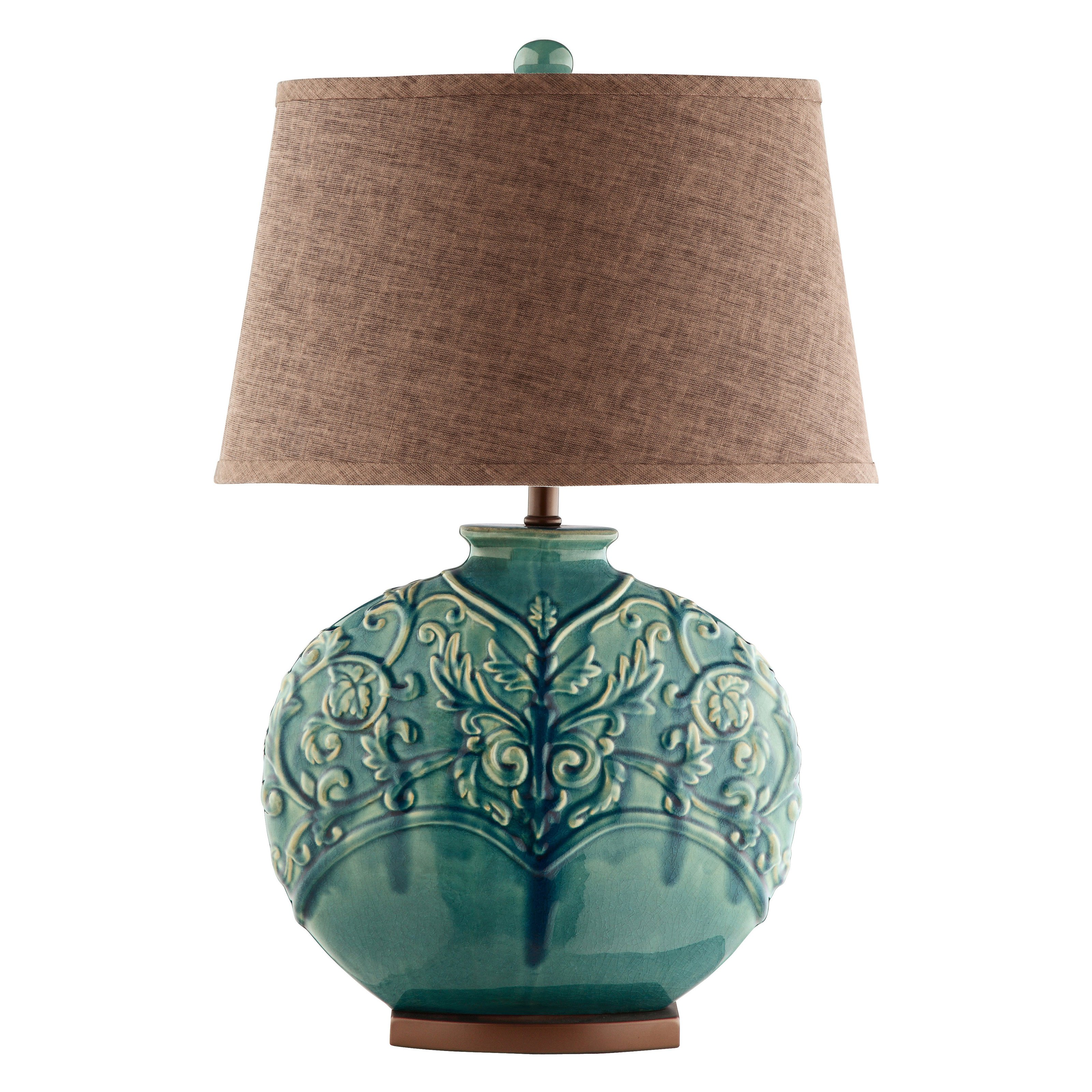 turquoise table lamps photo - 10