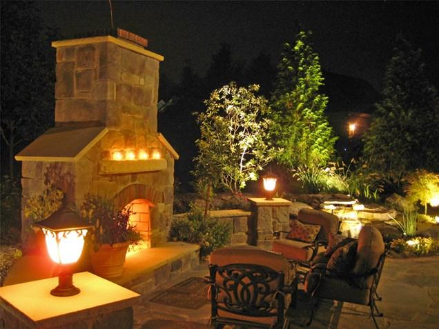 tuscan outdoor lighting photo - 9