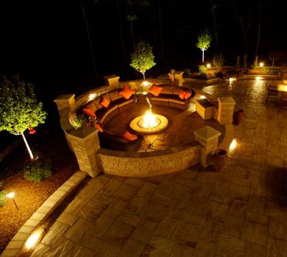 twilight solar outdoor lighting photo - 8