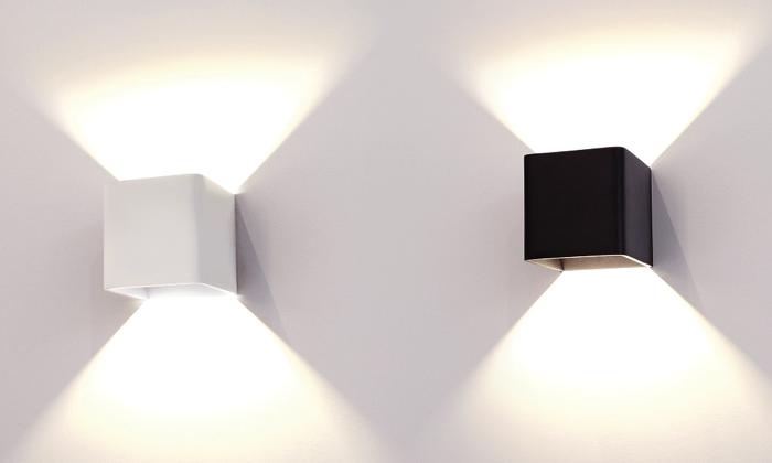 outdoor up and down wall lights are solid light fixtures designed to