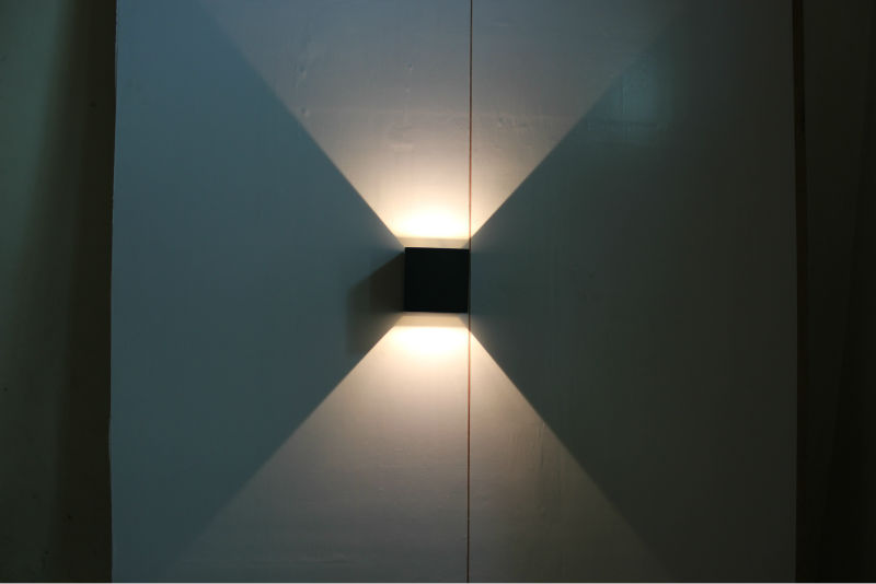 up down led wall light photo - 2