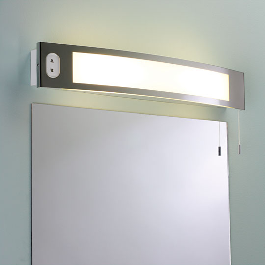 vanity wall mirror with lights photo - 6