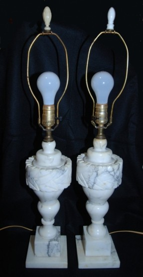 vintage alabaster lamps photo - 4