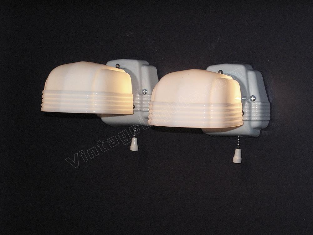 vintage bathroom wall lights photo - 6