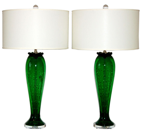 vintage glass table lamps photo 5