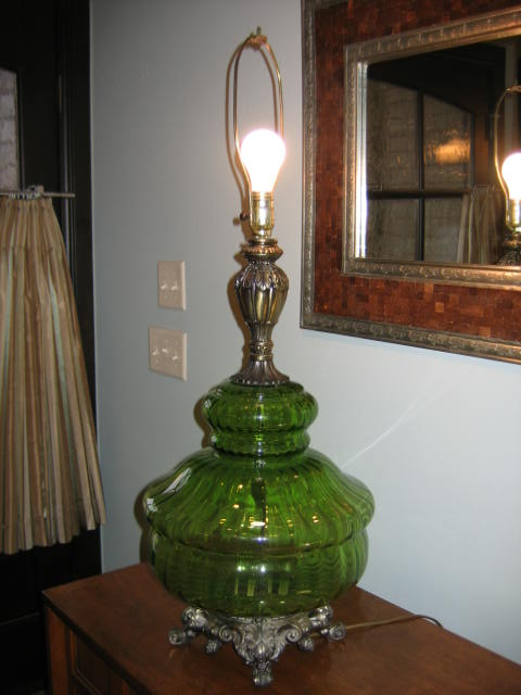 Vintage Glass Table Lamps Photo   6
