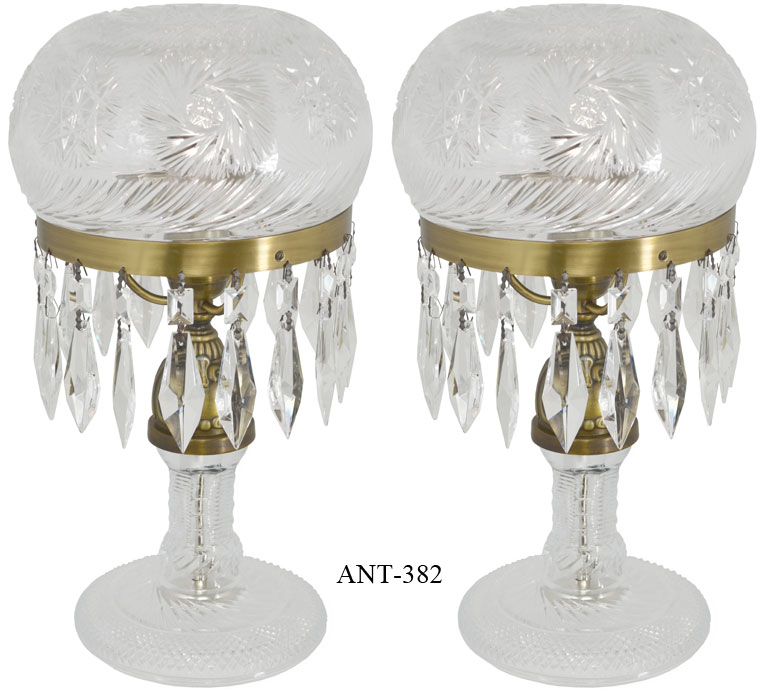vintage glass table lamps photo - 7