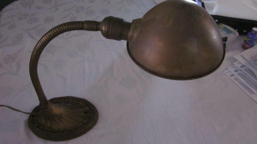 vintage gooseneck lamp photo - 3