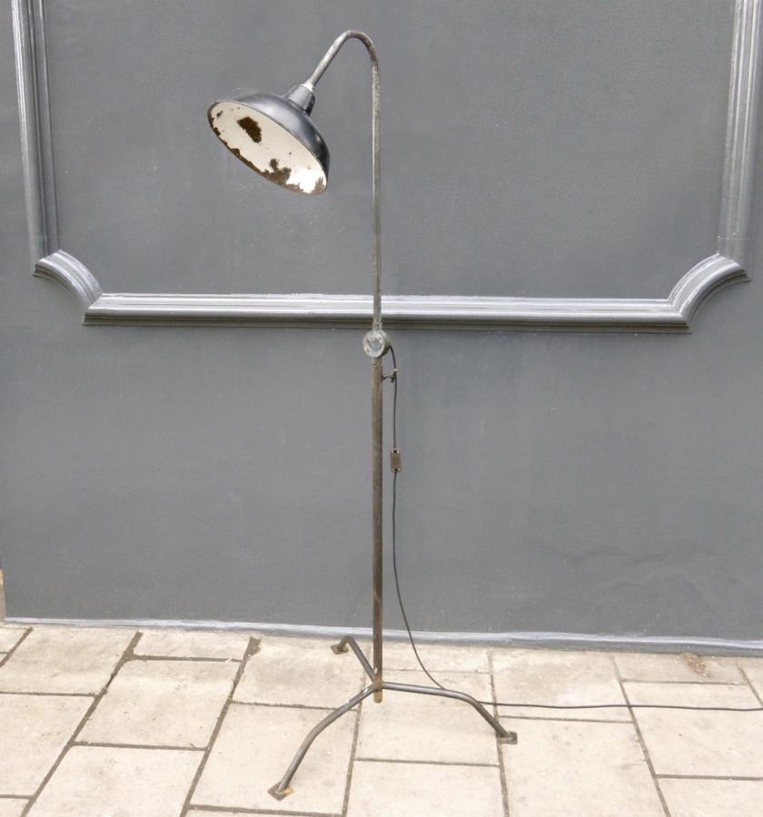 vintage industrial floor lamp photo - 2