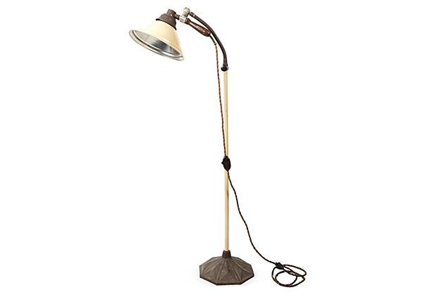 vintage industrial floor lamp photo - 3