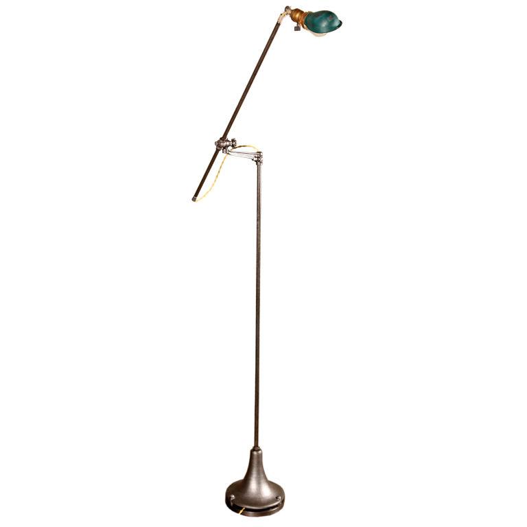 vintage industrial floor lamp photo - 6