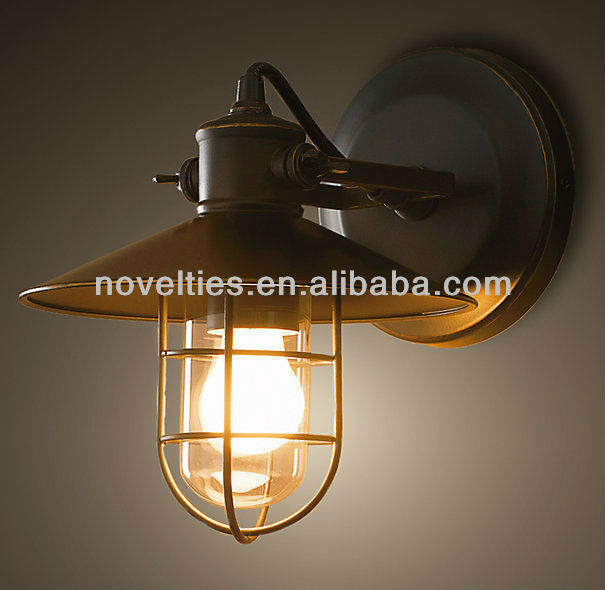 vintage industrial wall lights photo - 1