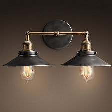 vintage industrial wall lights photo - 10