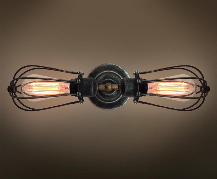 vintage industrial wall lights photo - 2