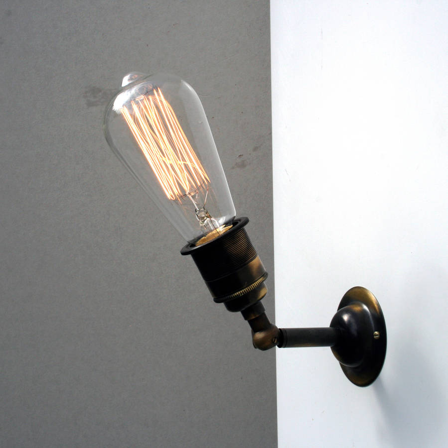 vintage industrial wall lights photo - 3