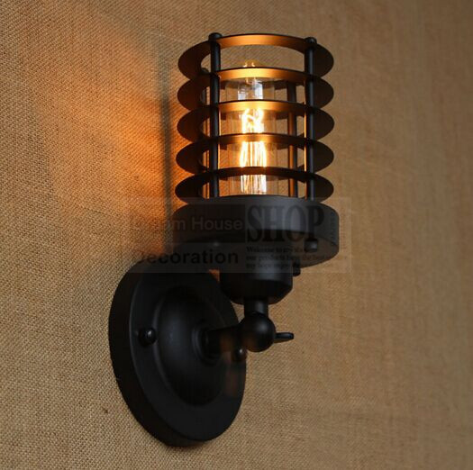 vintage industrial wall lights photo - 7