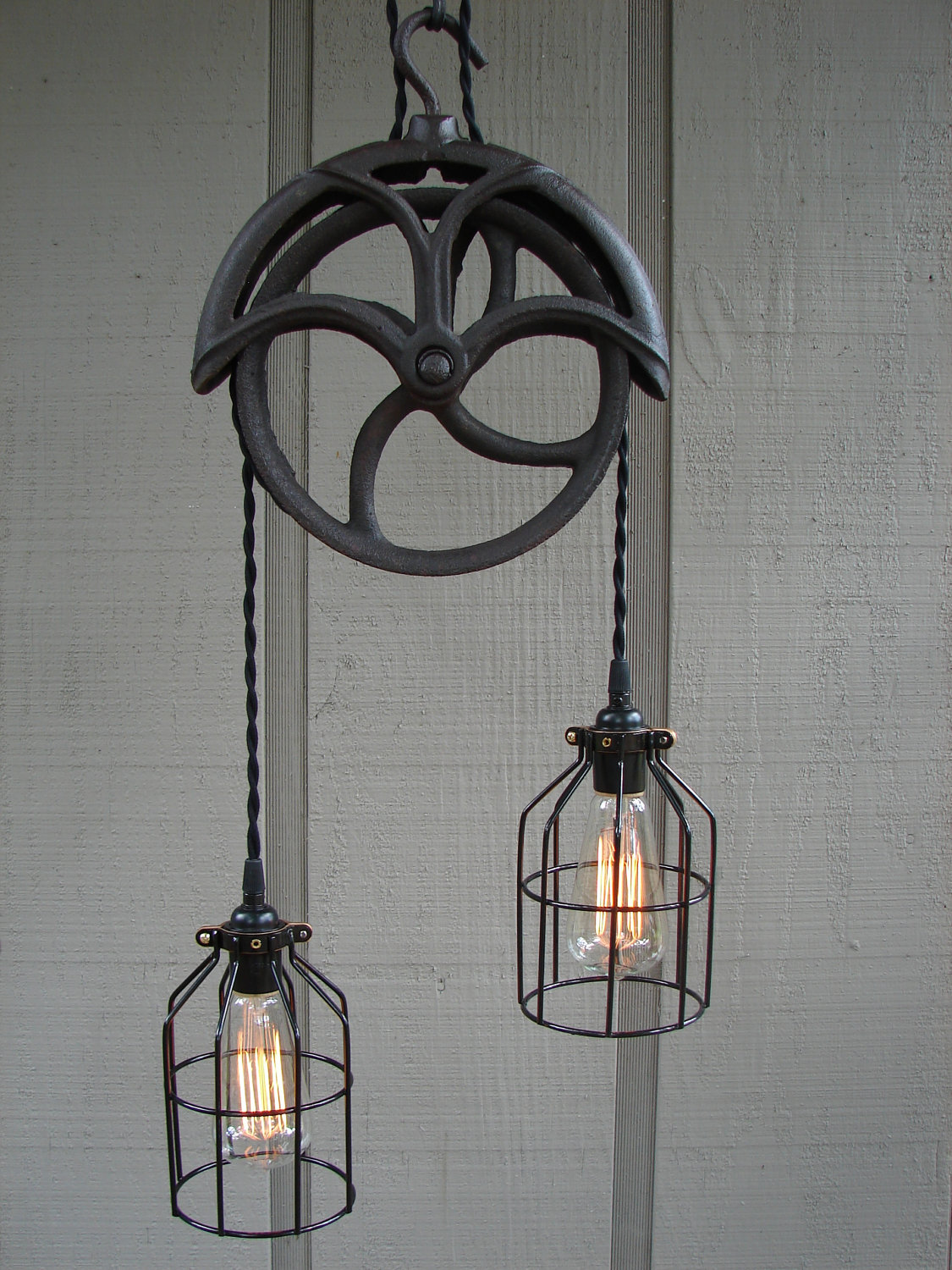 vintage industrial wall lights photo - 8