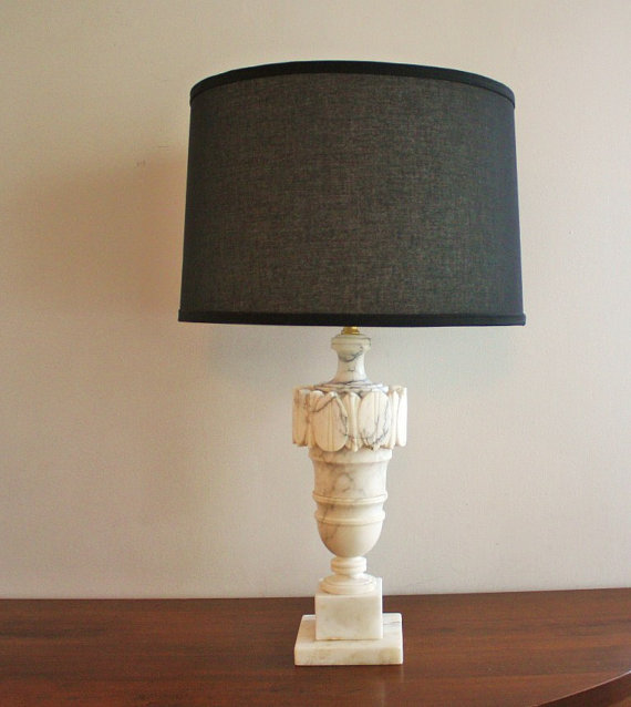 vintage marble lamps photo - 10