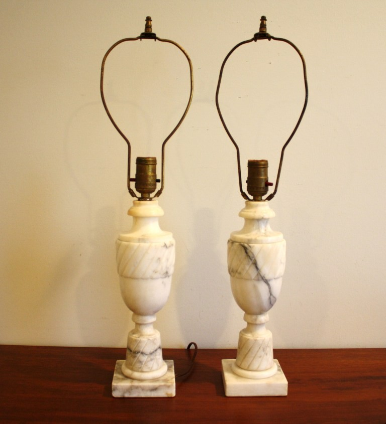 vintage marble lamps photo - 2