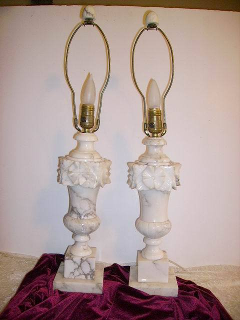 vintage marble lamps photo - 3