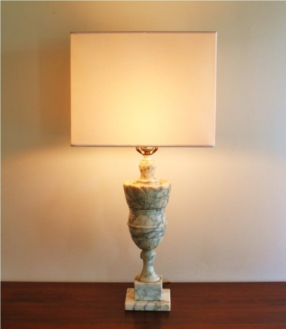 vintage marble lamps photo - 5