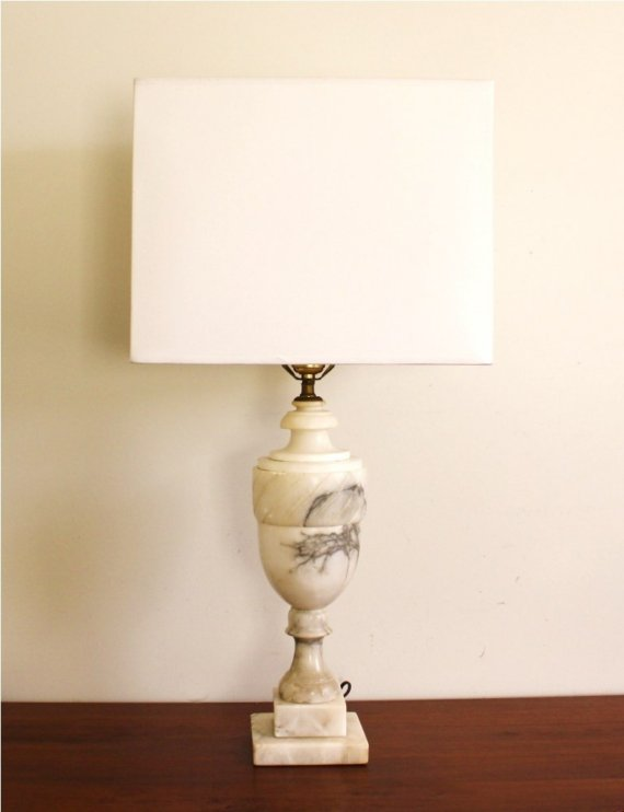 vintage marble lamps photo - 7