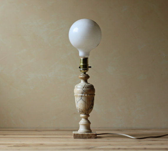 vintage marble lamps photo - 9
