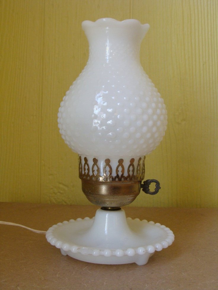 vintage milk glass lamps photo - 1