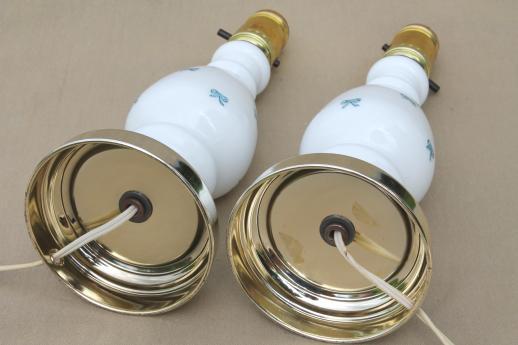 vintage milk glass lamps photo - 10