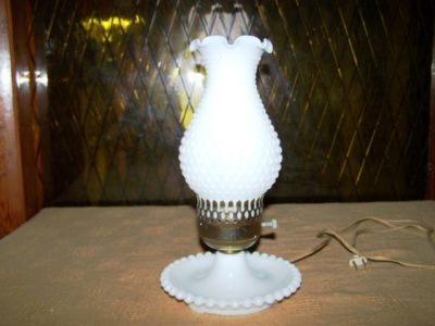 vintage milk glass lamps photo - 3