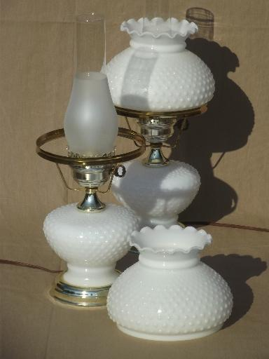 vintage milk glass lamps photo - 6