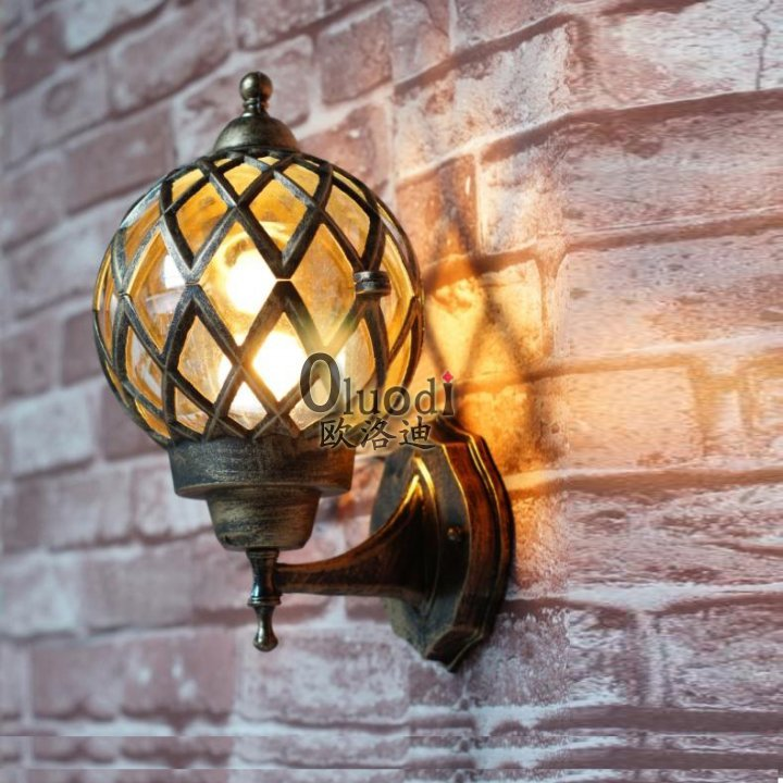 vintage outdoor wall lights photo - 10
