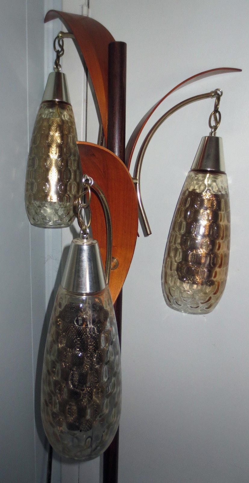 vintage tension pole lamp photo - 6
