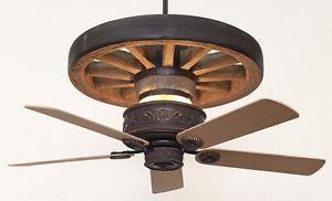 wagon wheel ceiling fan photo - 4