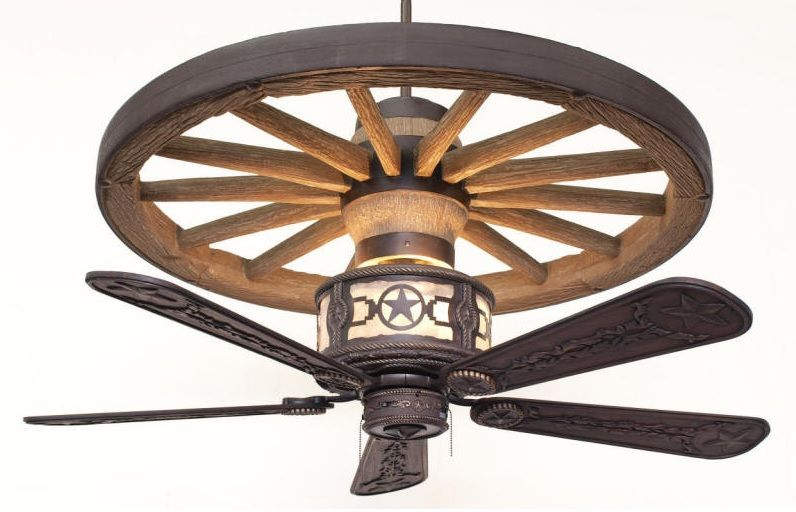 wagon wheel ceiling fan photo - 7