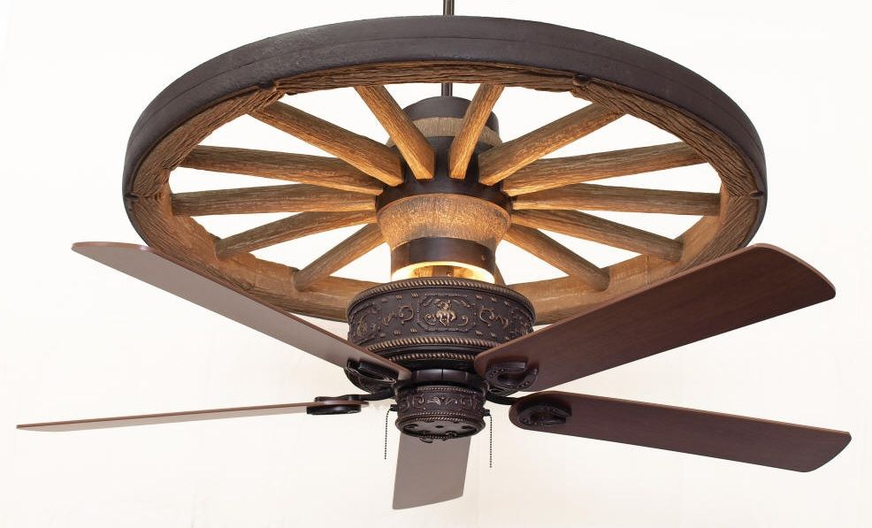 wagon wheel ceiling fan photo - 9