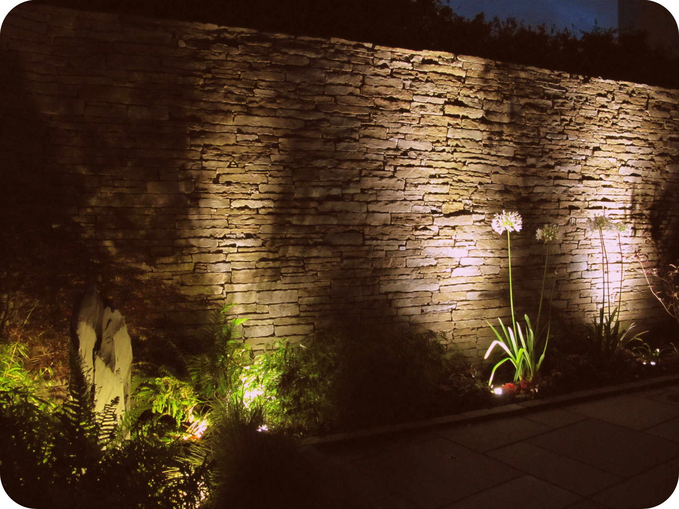 wall garden lights photo - 3