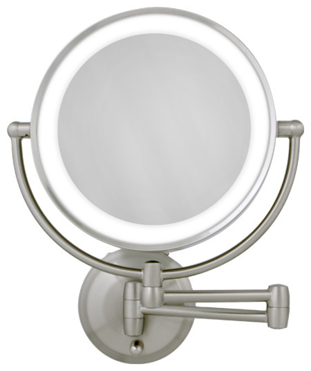 wall lighted makeup mirror photo - 1