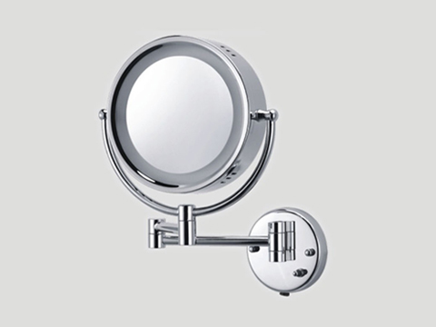 wall lighted makeup mirror photo - 3