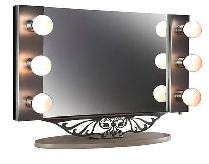 wall lighted makeup mirror photo - 8