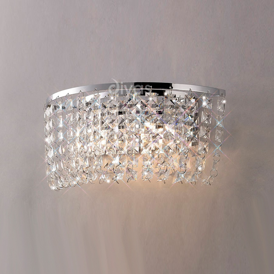 wall lights crystal photo - 5