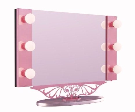 wall makeup mirror with lights photo - 5