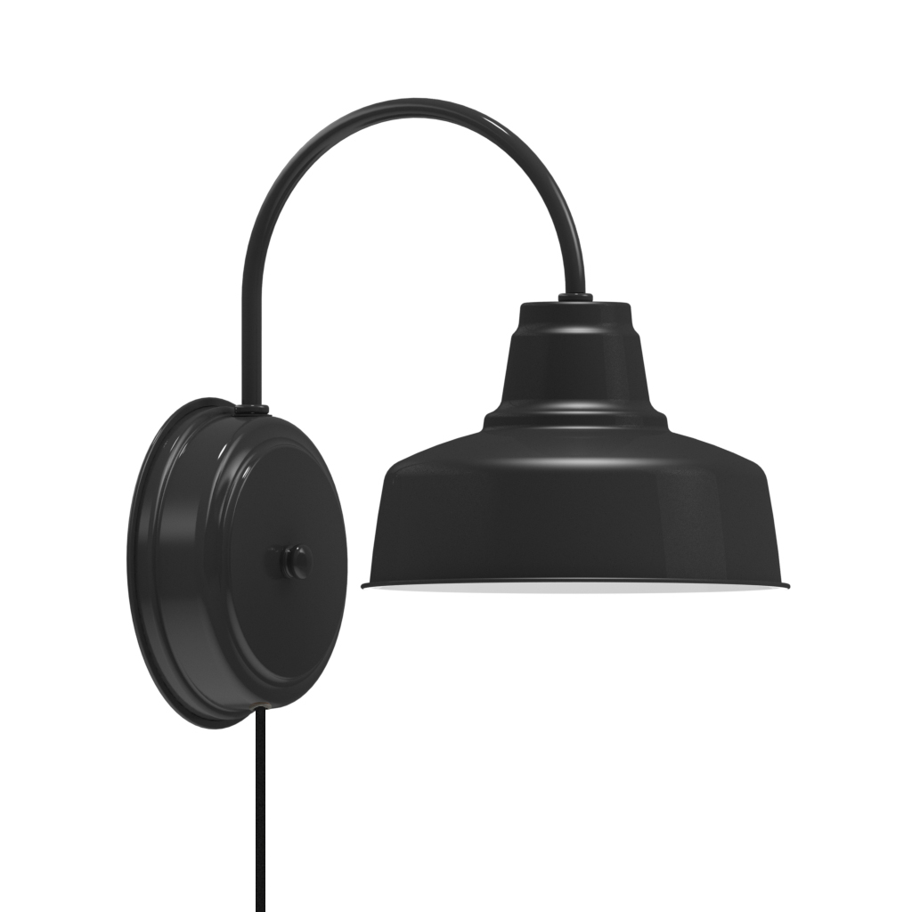wall mount lamps plug in photo - 7