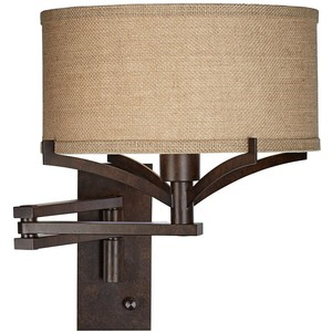 wall mount swing arm lamp photo - 10