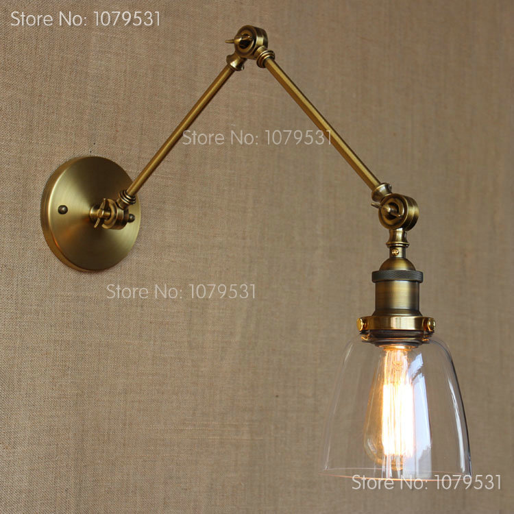 wall mount swing arm lamp photo - 5